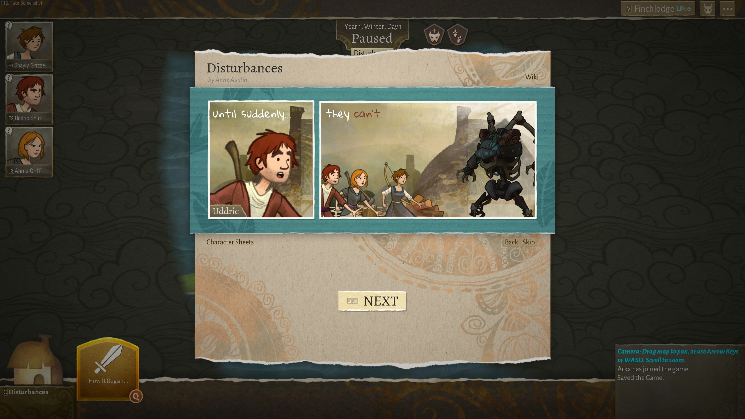 Wildermyth characters