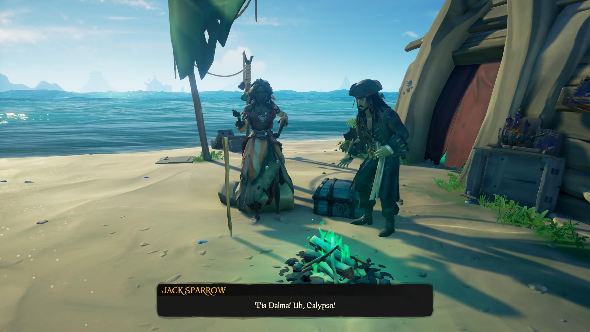 Fratellanza Oscura: Jack Sparrow e Calypso.