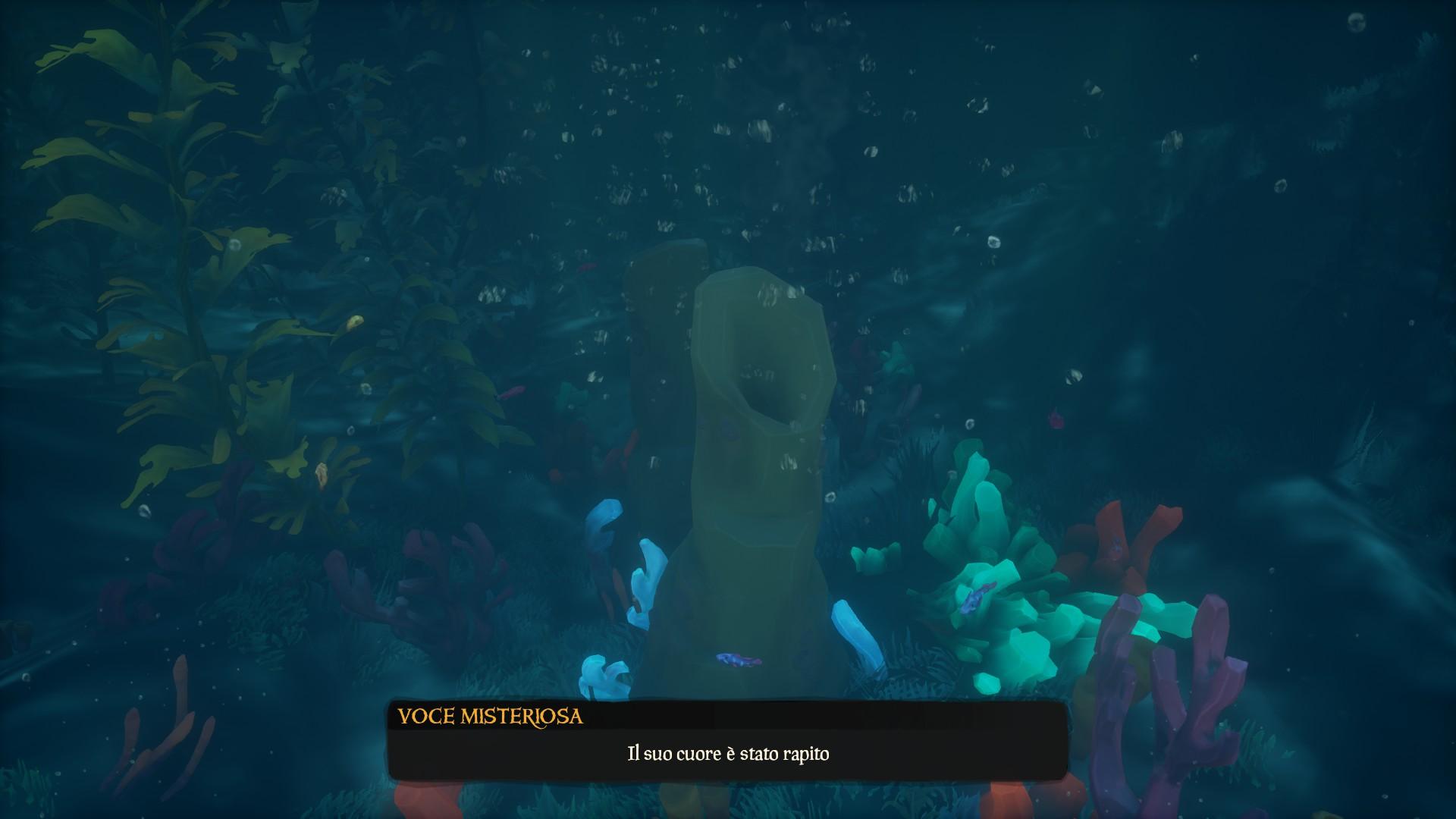 La Perla Affondata, un corallo da cui recuperare ossigeno.