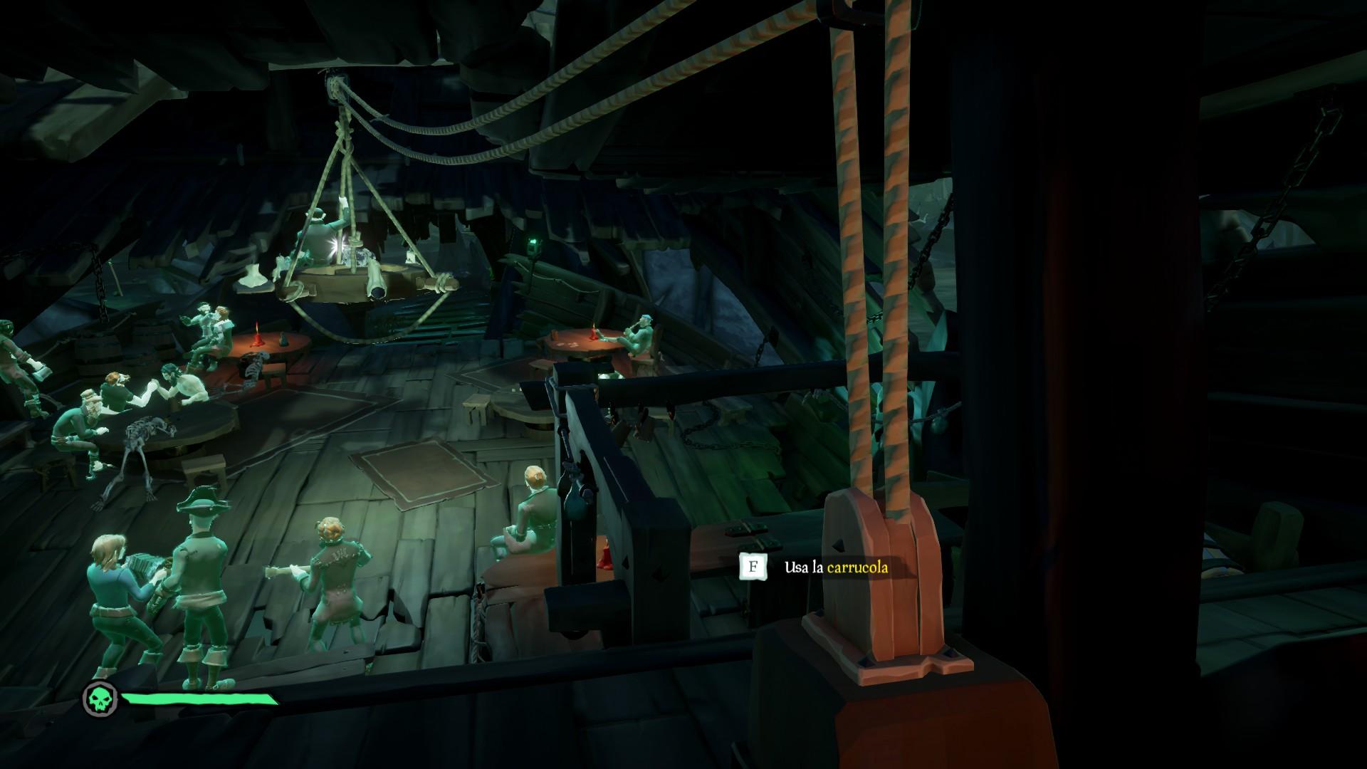 Vita da Pirata, abbassare il lampadario.