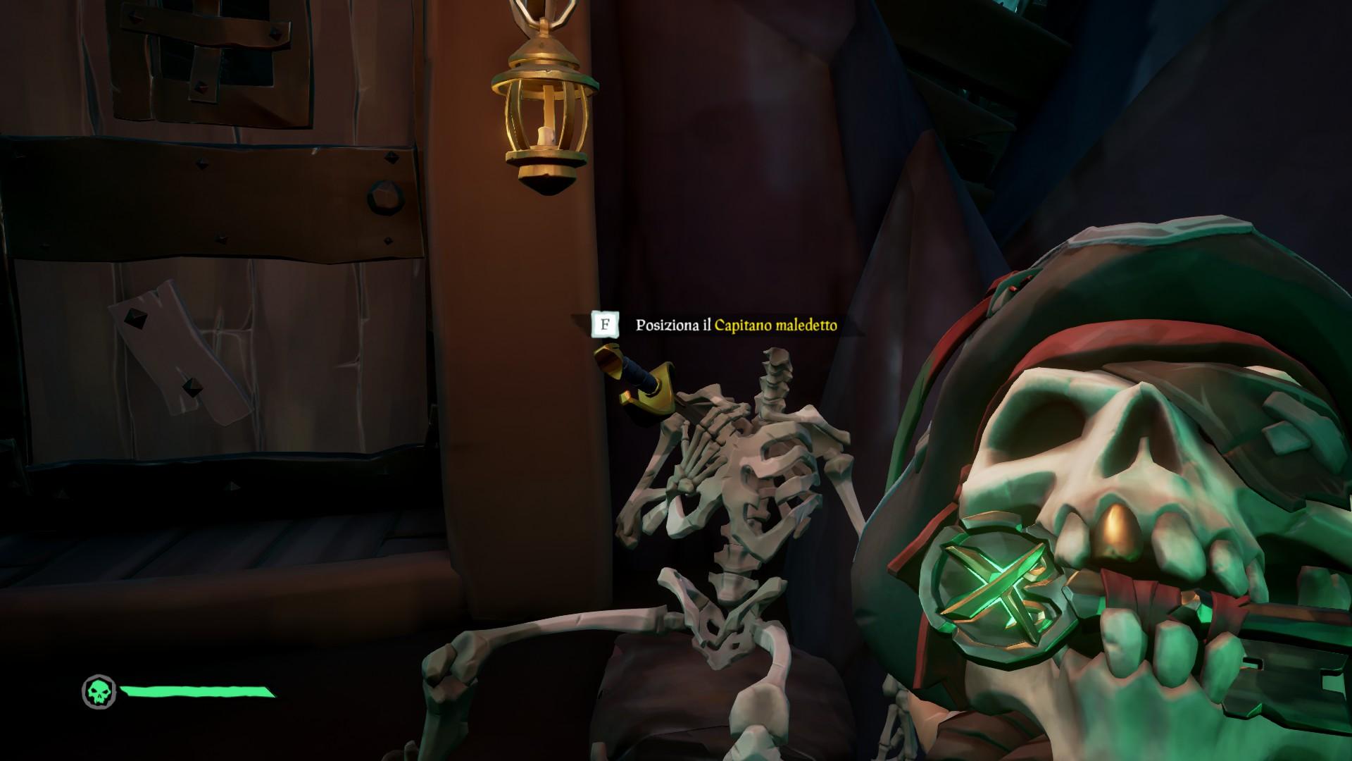 Vita da Pirata, lo scheletro per il Capitano Maledetto.
