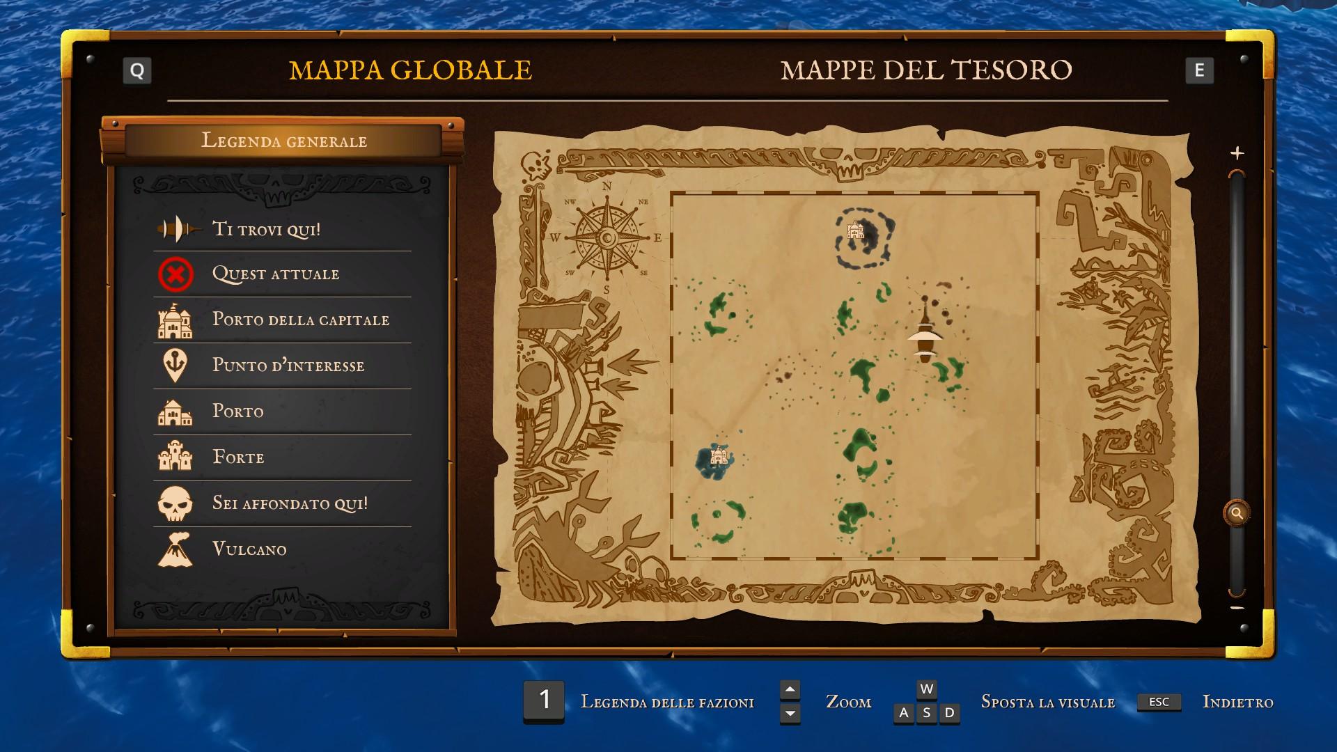 King of Seas, la mappa globale.