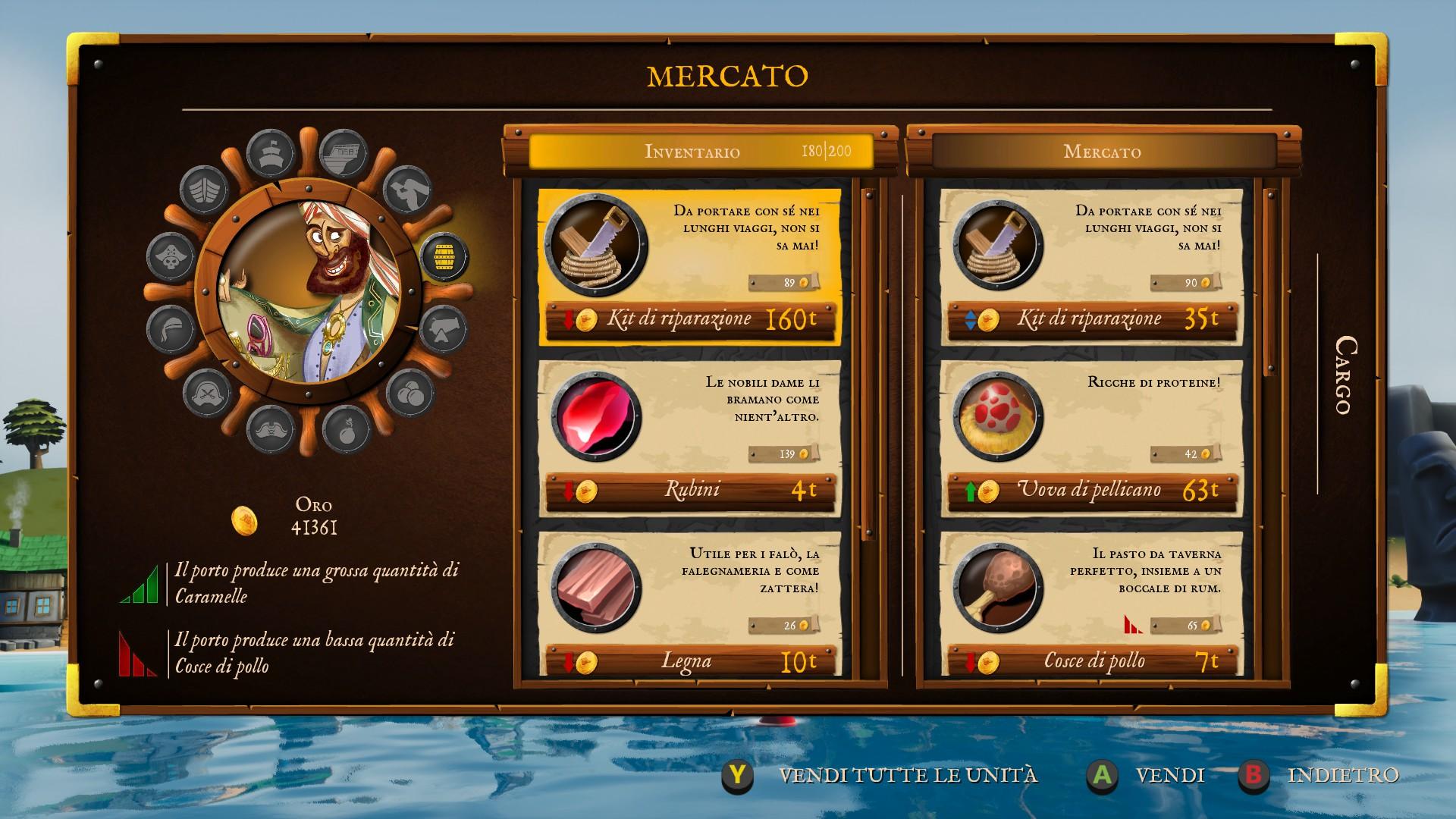 King of Seas, il Mercato.
