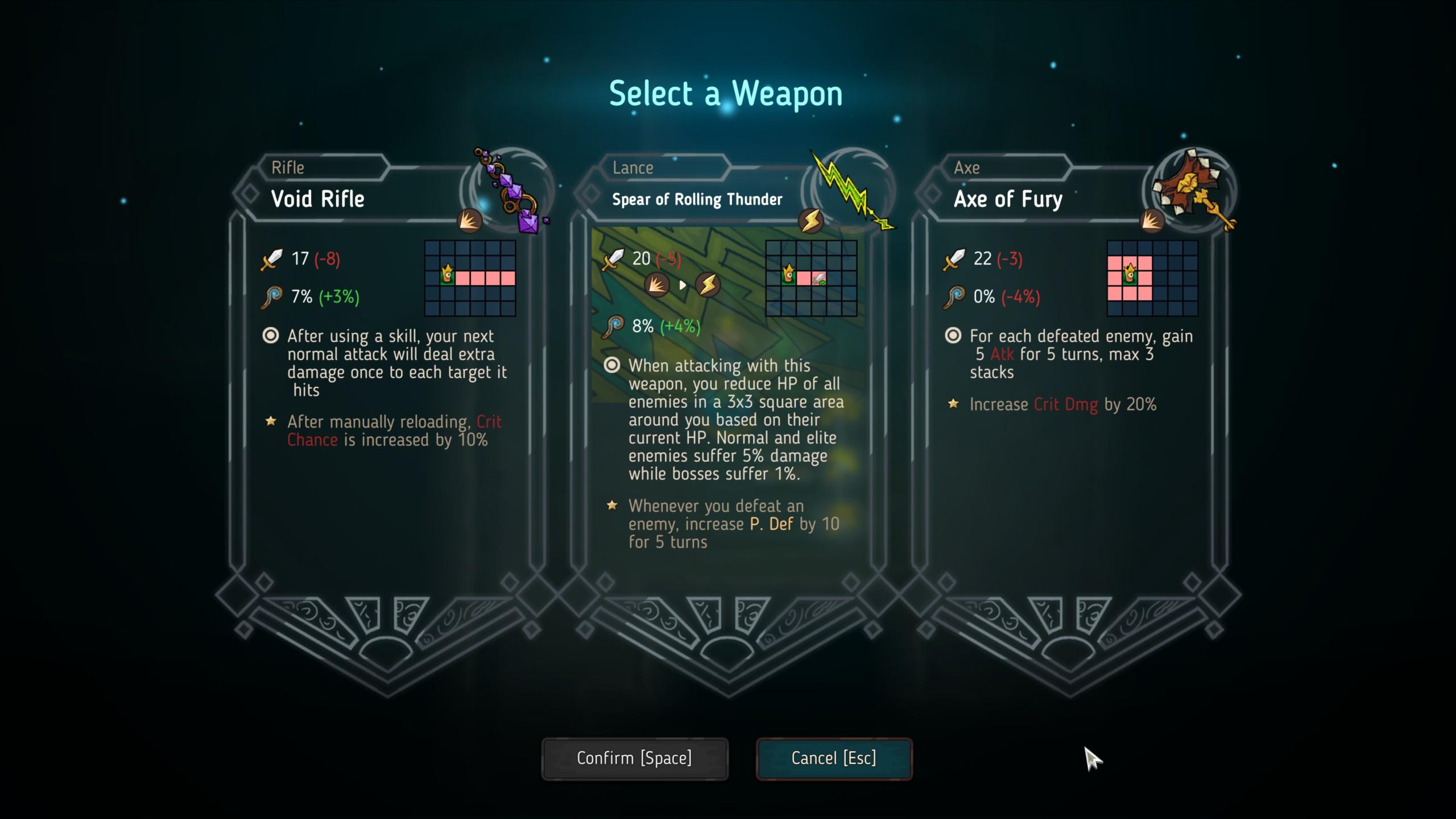 Crown Trick weapons