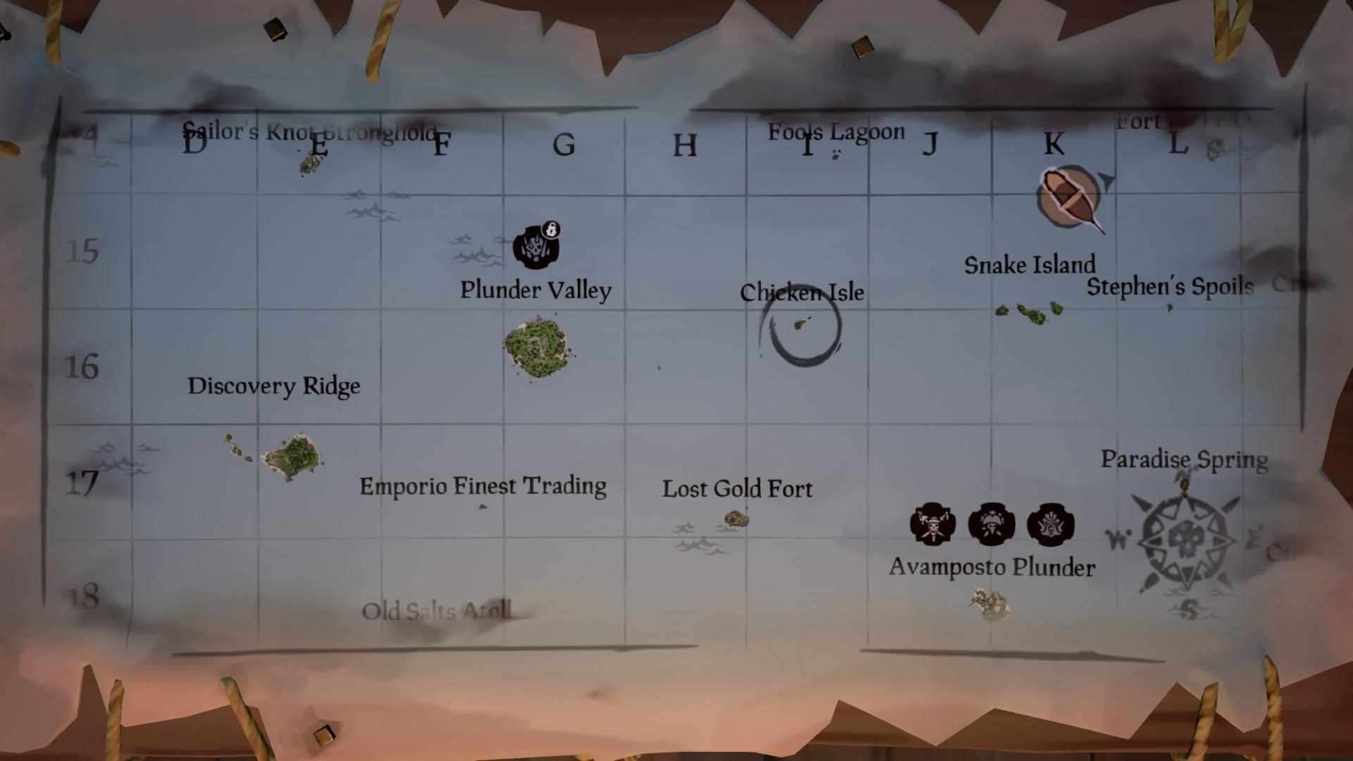 La Shroudbreaker, isola identificata sulla mappa.