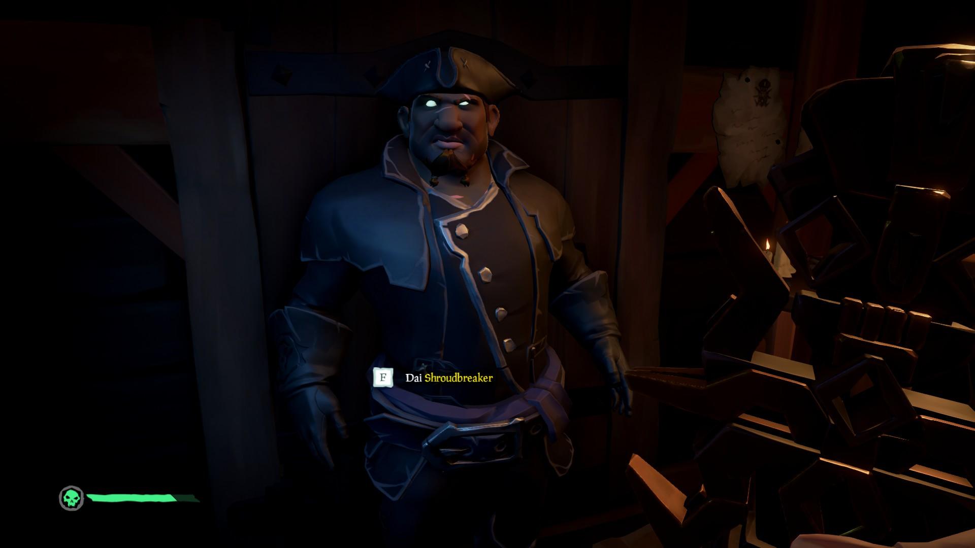 La Shroudbreaker, consegnare la reliquia al Personaggio Misterioso.