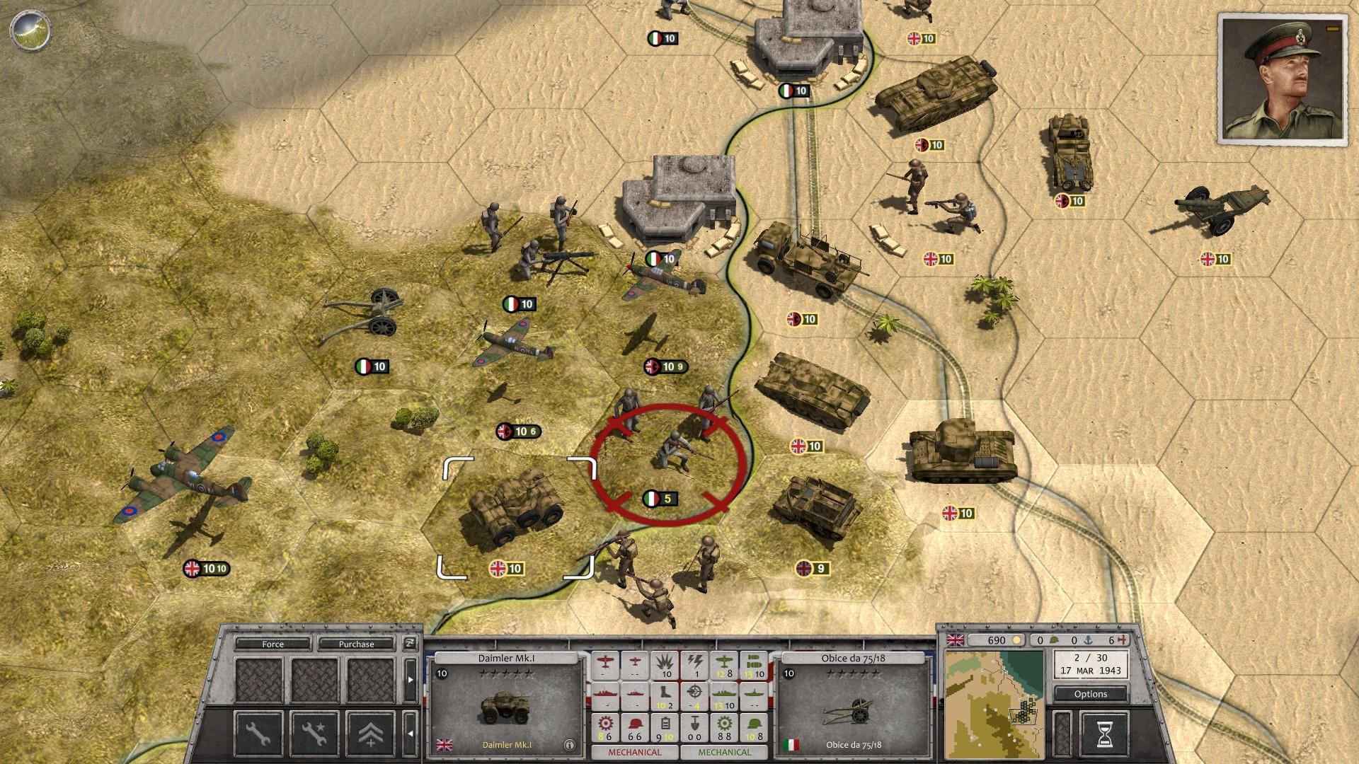 Order of Battle: Allies Resurgent units