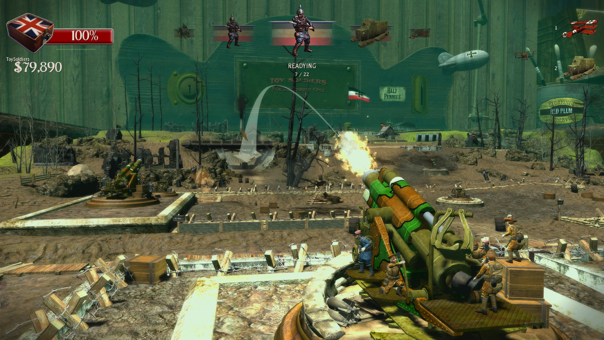 Toy Soldiers HD guns